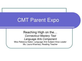 CMT Parent Expo