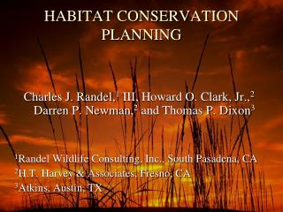 HABITAT CONSERVATION PLANNING