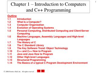Chapter 1   Introduction to Computers and C Programming