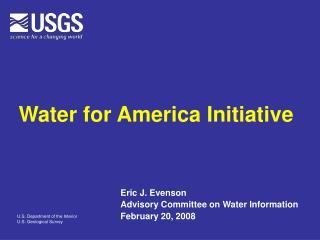 Water for America Initiative