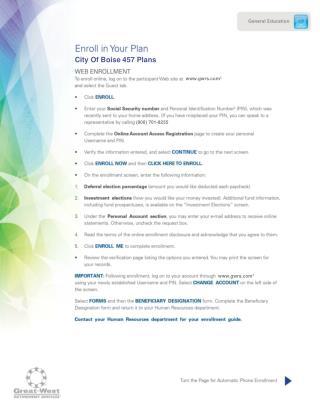 City Of Boise 457 Plans