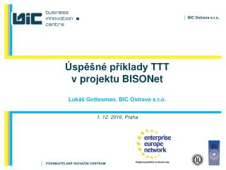Úspěšné příklady TTT  v projektu BISONet