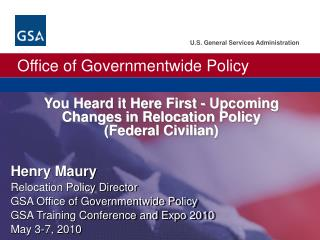 You Heard it Here First - Upcoming Changes in Relocation Policy  Federal Civilian