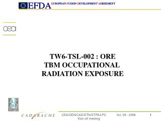 TW6-TSL-002  : ORE TBM OCCUPATIONAL  RADIATION EXPOSURE