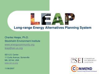 Long-range Energy Alternatives Planning System