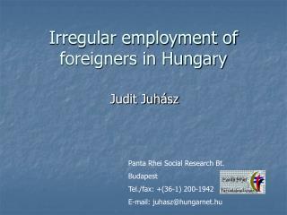 Irregular employment of foreigners in Hungary