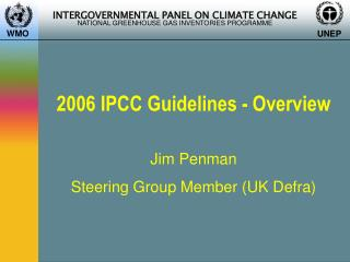 2006  IPCC  Guidelines - Overview