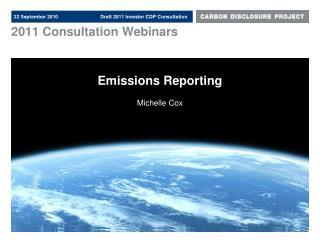 2011 Consultation Webinars