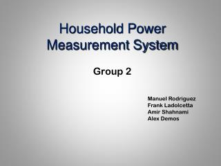 Household Power Measurement System
