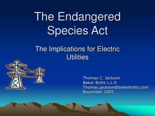 The Endangered Species Act