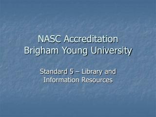 NASC Accreditation Brigham Young University