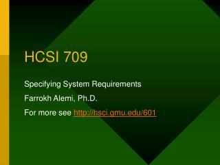 HCSI 709