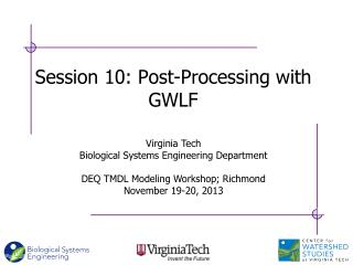 Session 10: Post-Processing with GWLF