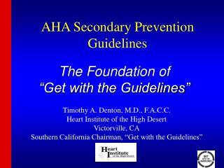 AHA Secondary Prevention Guidelines