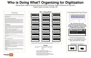Who is Doing What? Organizing for Digitization