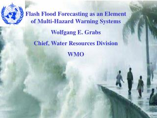 Flash Flood Forecasting as an Element of Multi-Hazard Warning Systems Wolfgang E. Grabs Chief, Water Resources Division