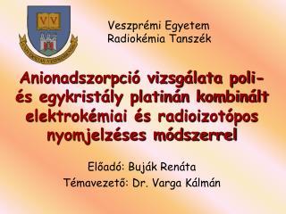Előadó: Buják Renáta Témavezető: Dr. Varga Kálmán