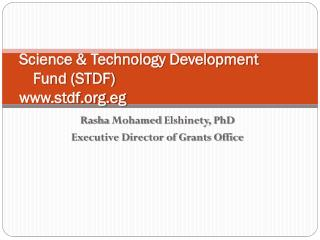 Science & Technology Development  Fund (STDF) stdf.eg
