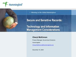 Secure and Sensitive Records: