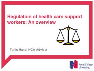 Regulation of health care support workers: An overview