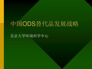 中国 ODS 替代品发展战略