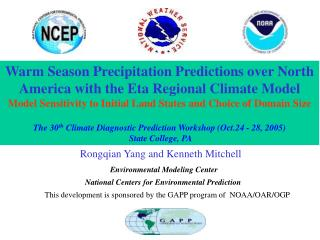 Warm Season Precipitation Predictions over North America with the Eta Regional Climate Model