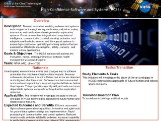 High-Confidence Software and Systems (HCSS)