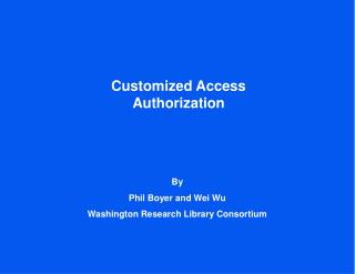 Customized Access Authorization