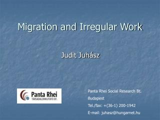 Migration and  Irregular  Work