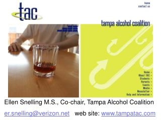 Ellen Snelling M.S., Co-chair, Tampa Alcohol Coalition