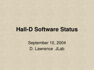 Hall-D Software Status