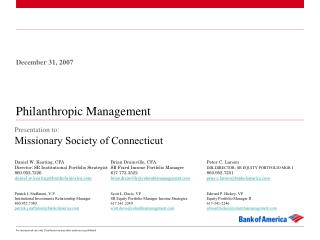 Philanthropic Management