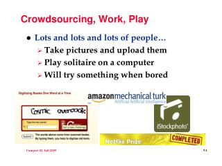 Crowdsourcing, Work, Play