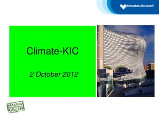 Climate-KIC  2 October 2012