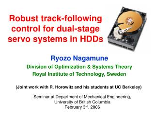 Robust track-following control for dual-stage servo systems in HDDs