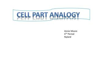 Cell Part Analogy
