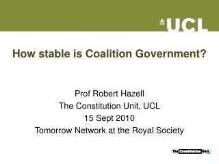 How stable is Coalition Government?