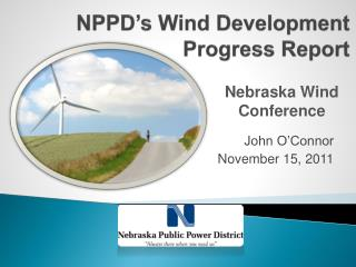NPPD's Wind Development Progress Report