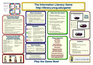 The Information Literacy Game library.uncg/game/