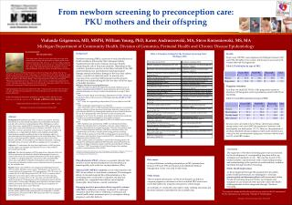From newborn screening to preconception care:  PKU mothers and their offspring