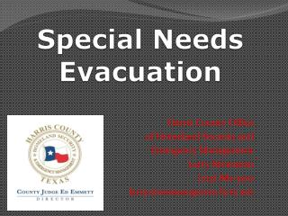 Special Needs Evacuation