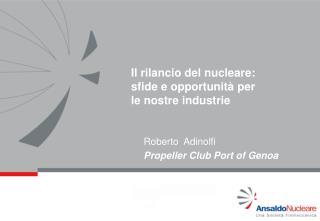 Il rilancio del nucleare: sfide e opportunità per  le nostre industrie