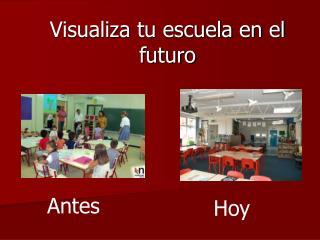 Visualiza tu escuela en el futuro