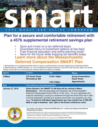 Plan for a secure and comfortable retirement with a 457b supplemental retirement savings plan