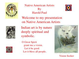 Native American Artists By Harold Paul