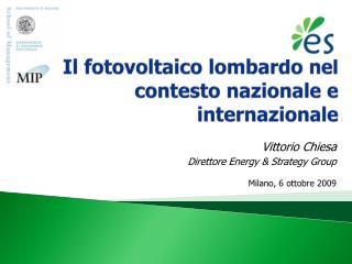 Il fotovoltaico lombardo nel contesto nazionale e internazionale