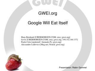 Presentation: Robin Gommel