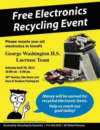 Please recycle your old electronics to benefit