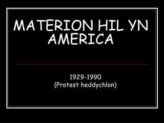 MATERION HIL YN AMERICA