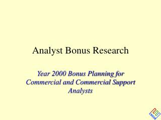 Analyst Bonus Research